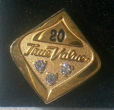 Vtg. True Value Hardware Co. Tie pin/tack/tac 20 year employee service award