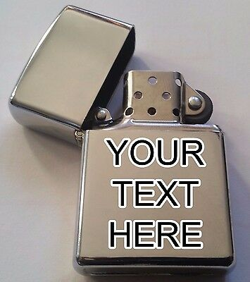 Personalised Text Lighter. Your Text Engraved Lighter For Gift, Present In Bag!
