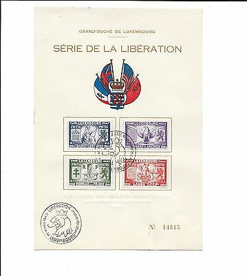 LUXEMBOURG SEMI-POSTAL B117-120 SET on numbered Souvenir Card