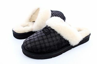 0558352b19c UGG COZY DOUBLE Diamond Black Color Women's Slippers Size 11 Us
