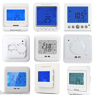 Elektrische Digital Thermostat Raumthermostat Fußboden Wandheizung Touch Screen