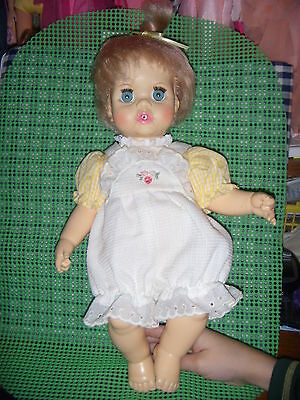Ideal's  1971 Tiny Tears Doll In Pretty Outfit