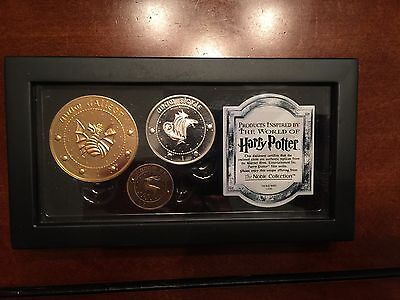 Harry Potter Gringotts Bank Coin Set Movies Collectible Noble Collection - New