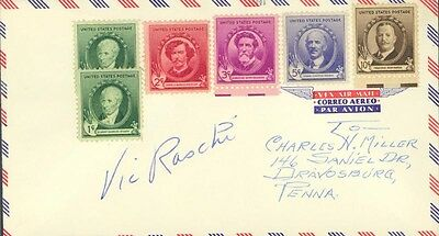 Vic Raschi - Envelope Signed