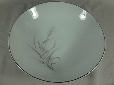 """Castle Court Fine China Wheat Spray 9"""" Round Vegetable Serving Bowl Gray White"""