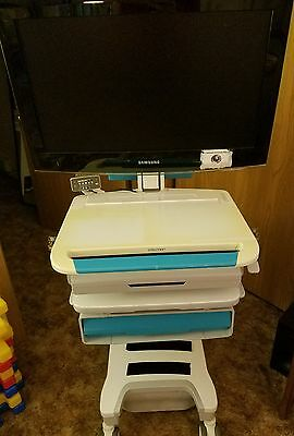 Used Ergotron SV32-32051-T Medical Cart with Samsung TV