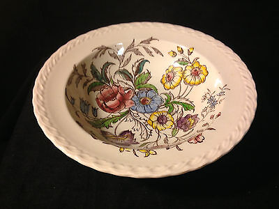 Vernon Kilns MAY FLOWER ROUND SERVING BOWL Made in USA Under Glaze
