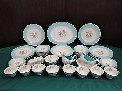 Taylor Smith Taylor Dinnerware China TST33 49pc Set Service for 8 Vintage Dishes