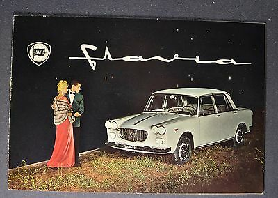 1962-1963 Lancia Flavia Catalog Sales Brochure Excellent Original