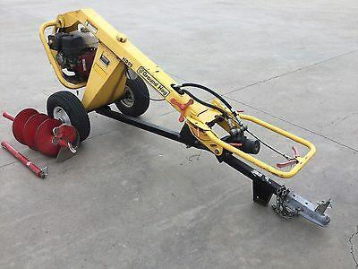 Ground Hog HD99 Towable Auger Post Hole Digger with Honda Engine
