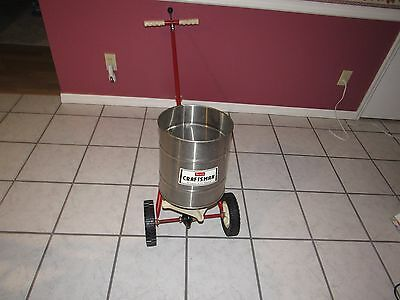 Vintage Craftsman Fertilizer Spreader Model 472.19090 Made In Use Steel
