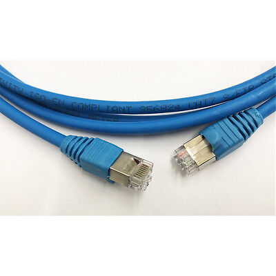 AMP Krone 1M CAT7 CAT6A Blue 10Gb Ethernet Cable 1 Meter
