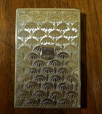 Stunning 1835 Georgian Sterling Calling Card Case Taylor & Perry Birmingham