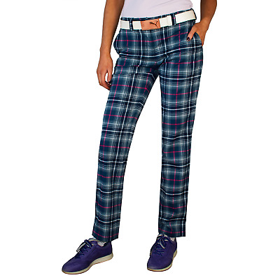 New Nike Womens Modern Rise Golf Pants - Plaid