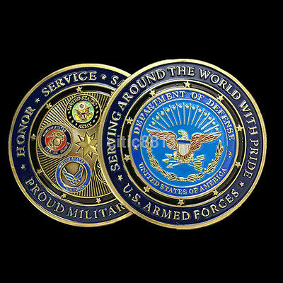 1 PCS US Navy Army Air Force Marine Corps Commemorative Challenge Coins Art Gift