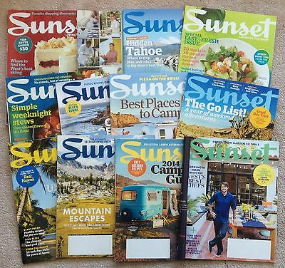 Sunset Magazine lot 12 2008-2016 Western Living: Camping Tahoe Mountains Chefs