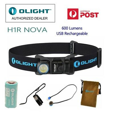 Olight H1R Nova Rechargeable 600 lumens CREE LED head lamp Cool/Neutral White
