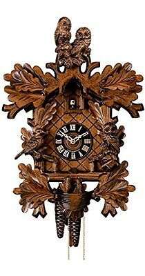 Handcrafted Wood Cuckoo Clock 'Owls', Authentic German