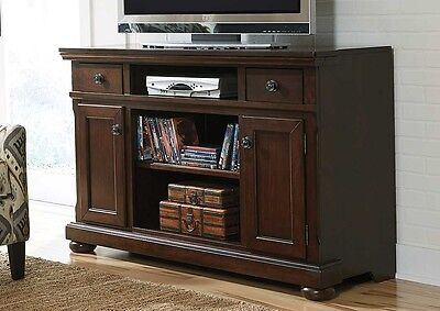 Signature By Ashley Furniture Mahogany Lg Tv Stand With Fireplace Option