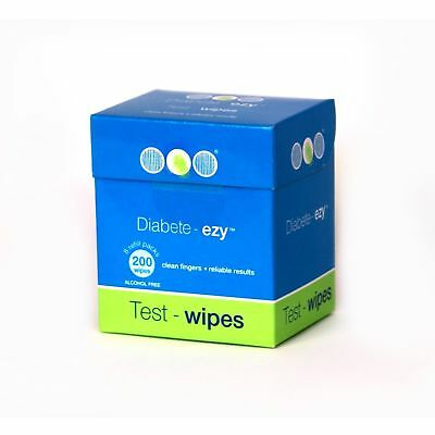 Ezy-Test-Wipe Refill Pack 100 testing wipes to ensure a reliable blood glucos...