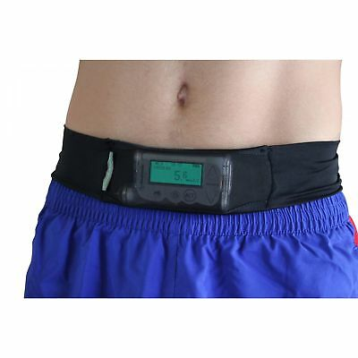 Ezy-View Comfy-Pump Insulin Pump Belt in Black, Nude, Breathable - Diabetic Aid