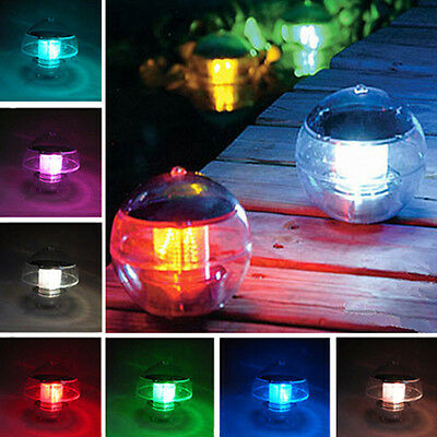 Solar Floating Underwater LED Light Swimming Pool Hot Spring Outdoor Garden Lamp