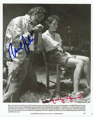 Tempest Movie Cast - Photograph Signed Co-Signed By: Raul Julia, Molly Ringwald