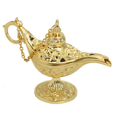 Gold Aladdin Magic Genie Light OiL Lamp Pot Mini Legend Light Stunning Decor