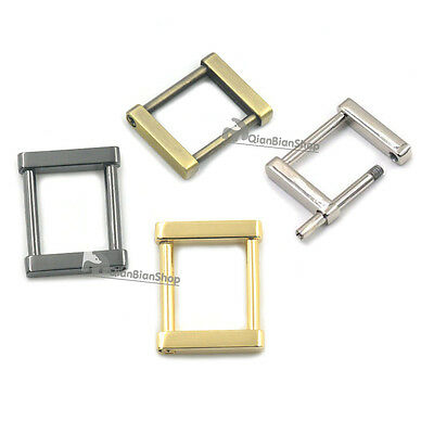"25mm 1"" Metal Detachable Rectangle Buckles D Ring Webbing Strap DIY Bags Leather"