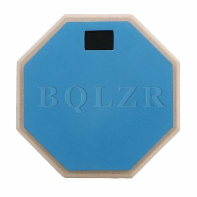 "BQLZR Blue 8"""" Rubber Double Side Drum Practice Pads Percussion Accessories"