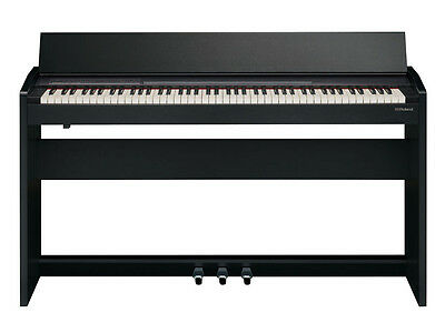 ROLAND F140R CB Contemporary Black Pianoforte con mobile nero