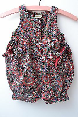 Fabulous  Vintage 80s 90s Girls Laura Ashley Pure Cotton Cord Dungarees /Romper