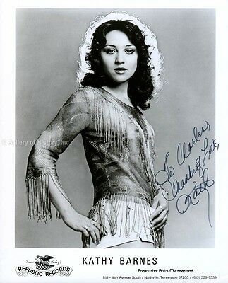 Kathy Barnes - Inscribed Photograph Signed