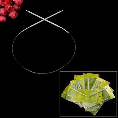 "Circular Aluminum Knitting Needles 40cm/15.75"" 2-8mm"