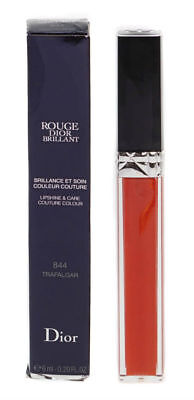 Dior Rouge Brillant Lip Shine Red Lipgloss & Balm 844 Trafalgar Damaged Box