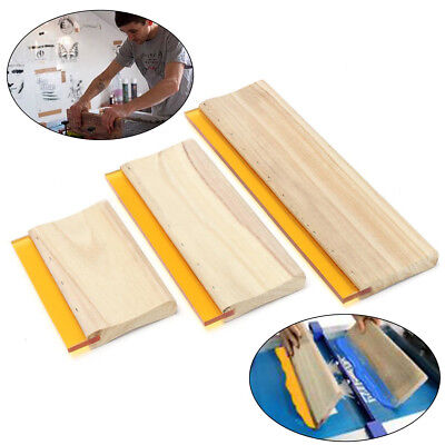 "3 pcs Silk Screen Printing Squeegee Ink Scaper Scratch Board Tools 6.3"" 9.5"" 13"""