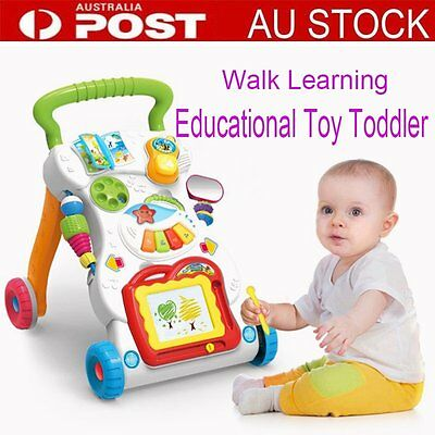 Baby Walker Toddler Play Toy Musical Activity Steps Learning Assistant  OP