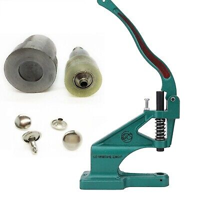 Universal Green Machine with Die Set for Rivets Studs for Leather Craft 6 - 15mm