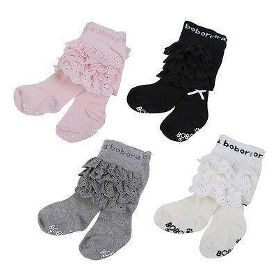 Newborn Toddler Baby Pantyhose Kids Girls Soft Cotton Tights Lace Stockings Sock