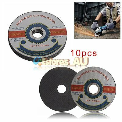 10Pcs 115mm Reinforced Cutting Wheel Blade Disc Stainless Steel Angle Grinder