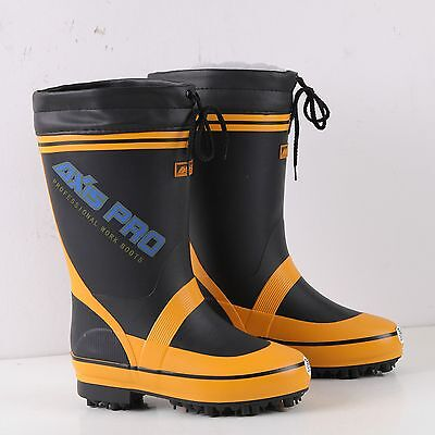 Yellow Fishing Boots Shoes Anti-Skid Soles Nails Spikes Waterproof