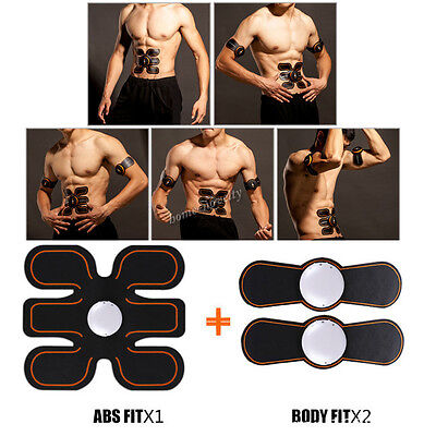 Sixpad ABS Fit + Body Gel Pads Muscle Stimulation Training Fitness Gym Sixpack