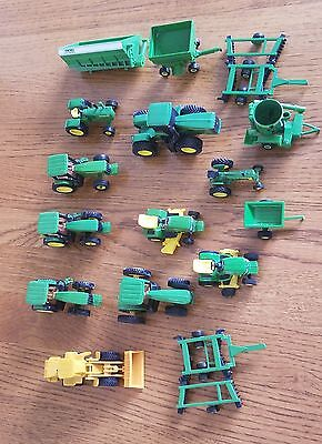 Lot Of Mixed John Deere and Ertle Die Cast Tractors and Farm Equipment