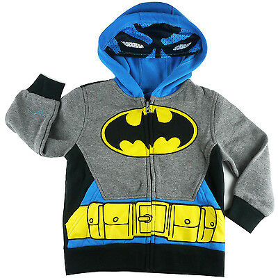 BATMAN hoodie with half mask fleece jacket outfit -Chase size 3 4 5 6 7 new
