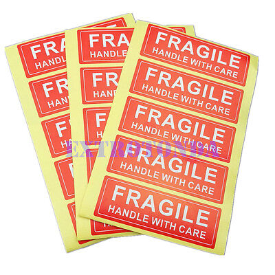 25pcs 1 x 3 FRAGILE HANDLE WITH CARE Stickers Lowest Price