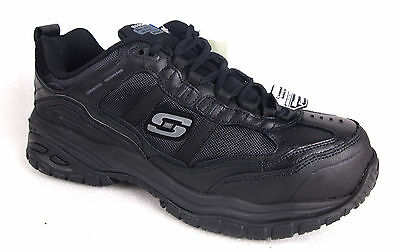 Skechers Women's 76052 Black Composite Toe Safety Work Shoes