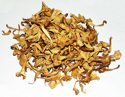 Yellow Chanterelle Mushrooms Dried, Wild Forest Cantharellus cibarius Dried