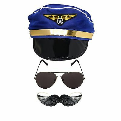 e8320d52c PILOT CAP ACCESSORIES Choose Airline Fighter Captain Aviator 80S ...