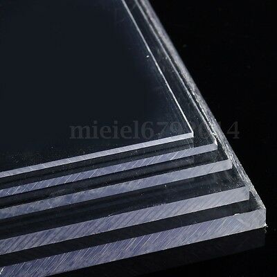 Clear Acrylic Sheet Cut To Size Panels Plastic Panel 1mm - 10 mm Thickness
