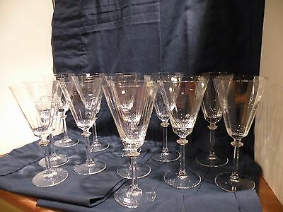 "Mikasa "" South Hampton"" GOLD Crystal Water Goblets  8 1/2"" 12 Available"
